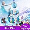 ZXZ JG301 SY373 Anna Elsa Snow Queen Elsa S Sparkling Ice Castle Building Toys Blocks