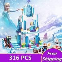 ZXZ JG301 SY373 Anna Elsa Snow Queen Elsa S Sparkling Ice Castle Building Toys Blocks