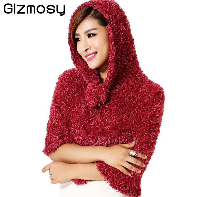 Gizmosy Scarf 20 Colors Solid DIY Magic Winter Scarf Casual Shawls Pashmina Fur Collar Scarves For Women Christmas Gifts BN047
