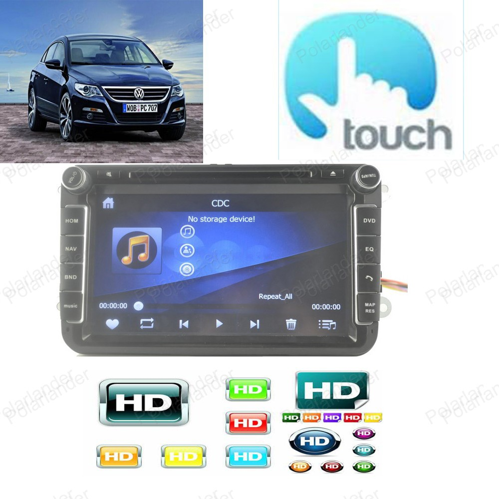 Car Multimedia Player for VW/POLO/PASSAT/Golf/Skoda/Octavia/SEAT/LEON With Wifi Radio GPS Navigation 1080P Ipod FM Map