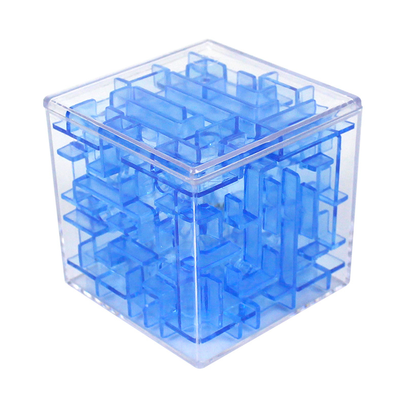 3D Cube Puzzle Maze Steel Ball Game Toys Case Box Fun Brain Game Toys For Children Intelligent Improve Hands-on/Balance Ability