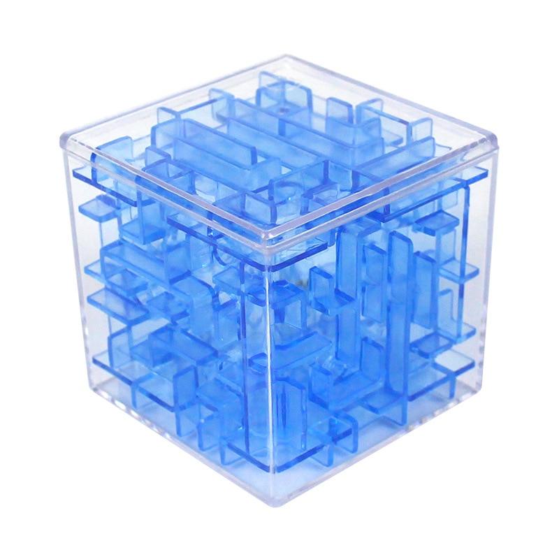 Cubo 3D rompecabezas laberinto bola de acero juego caja de juguetes divertido cerebro juego juguetes para niños inteligente mejora manos-on/equilibrio capacidad 52-143 Uds. Carrera de mármol laberinto bolas bloques de construcción tamaño grande jungla aventura Construcción de ladrillos juguetes compatibles para niños