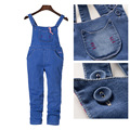 Big Girls Denim Overalls Autumn Fashion New Style Children Clothing Casual Kids Pants Solid High Quality Girl Denim Jeans
