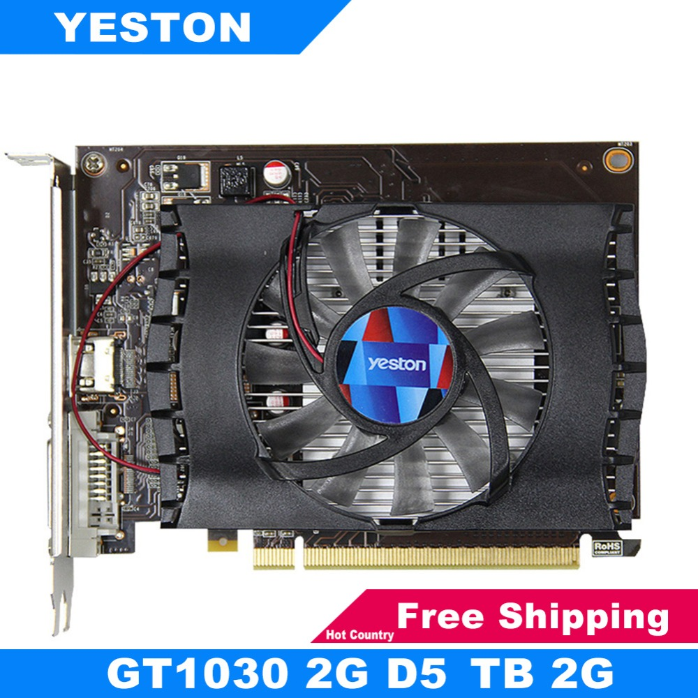 Yeston GT1030 2GD5 TB Graphics Card 2G GDDR5 1468MHz 64Bit f