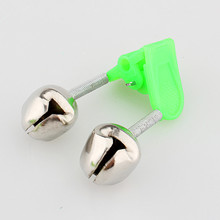 Free shipping 5pcs/lot LED Night Fishing Accessory Fishing Bell, Float Twin Bell Ring Fishing Bite Alarm GYH