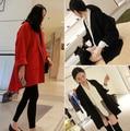 Корейских Женщин Дамы Летучая Мышь Шерсть Крупногабаритные Повседневный Пончо Зимнее Пальто Куртки Свободные Плащ Кабо Пиджаки