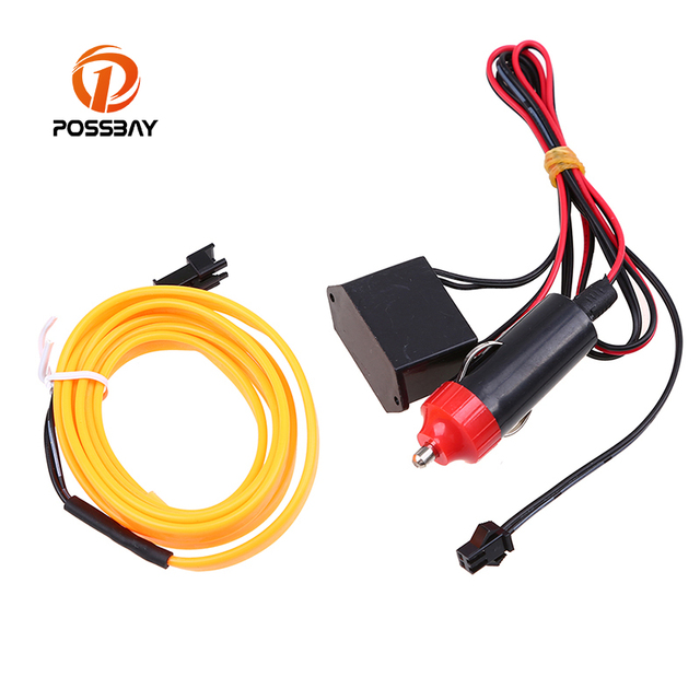 POSSBAY 4M DIY Atmosphere Car Interior LED EL Wire Rope Tube Neon ...