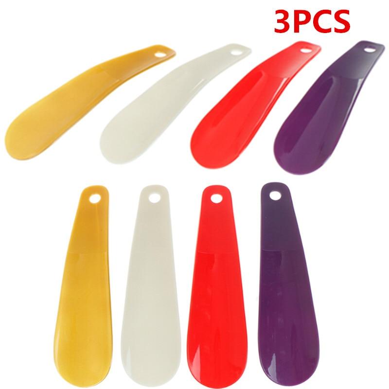 3Pcs/lot 16cm Professional Shoehorn Plastic Shoe Horn Spoon Shape Shoe Horns Flexible Shoe Lifter