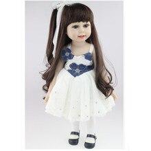 Yenilik 18 inç/45 cm yumuşak amerikan kız bebek prenses bebek elbise ile, sevimli gerçekçi bebek toys için çocuk hediye ücretsiz kargo