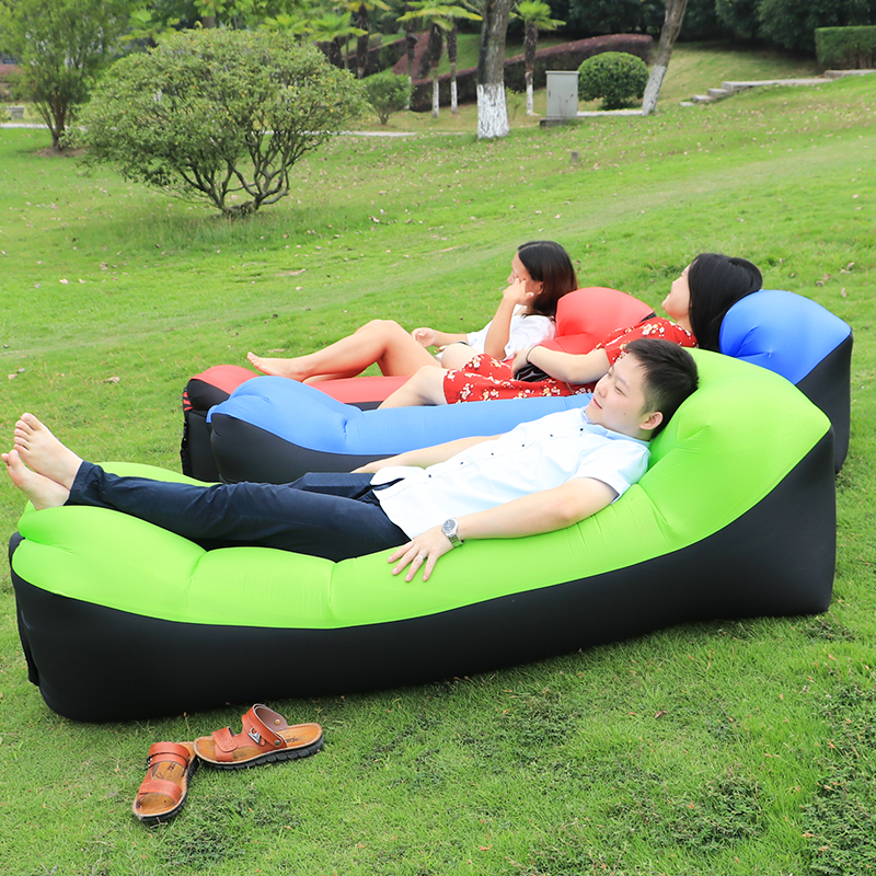 Camping lazy bag inflatable air sofa double pocket laybag sleeping bag adult <font><b>beds</b></font> air lounge Fast Inflatable mattress