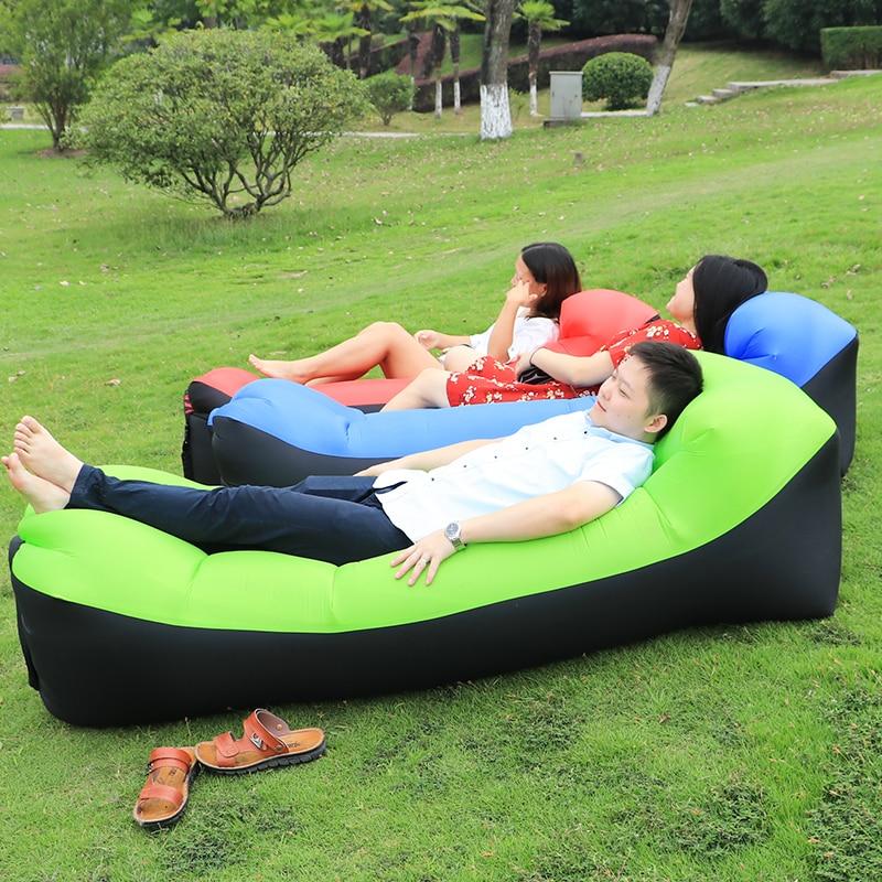 Camping lazy bag divano gonfiabile ad aria doppia tasca sacco a pelo - Camping ed escursionismo