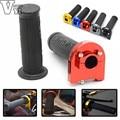 "Universal 7/8"" 22mm CNC Alloy Motorcycle Handlebar Aluminum & Rubber Motorbike Handle Grips for HONDA NC750X VFR1200X DCT"
