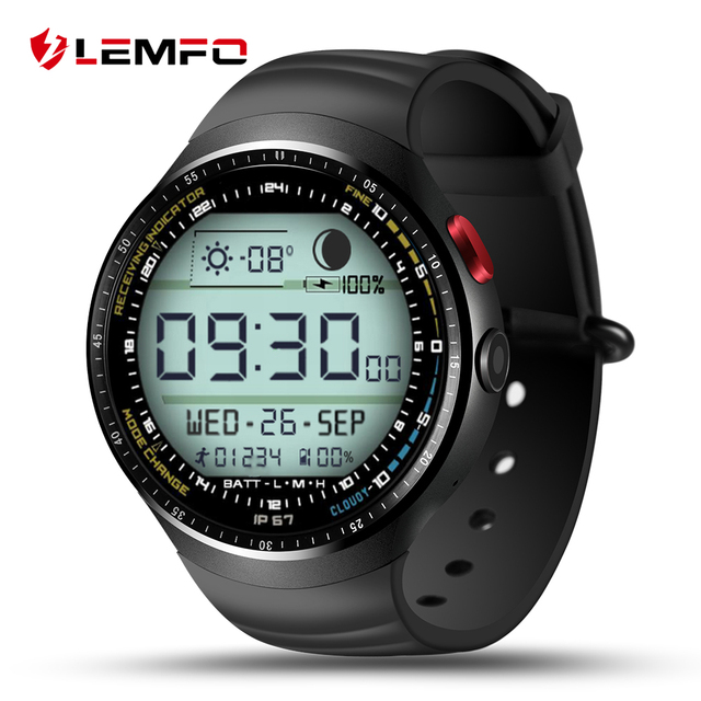 "LEMFO LES1 Android 5.1 Наручные Smart Watch MTK6580 1.39 ""OLED Дисплей 3 Г WI-FI SIM 1 Г + 16 Г Bluetooth SmartWatch для Android Телефона"