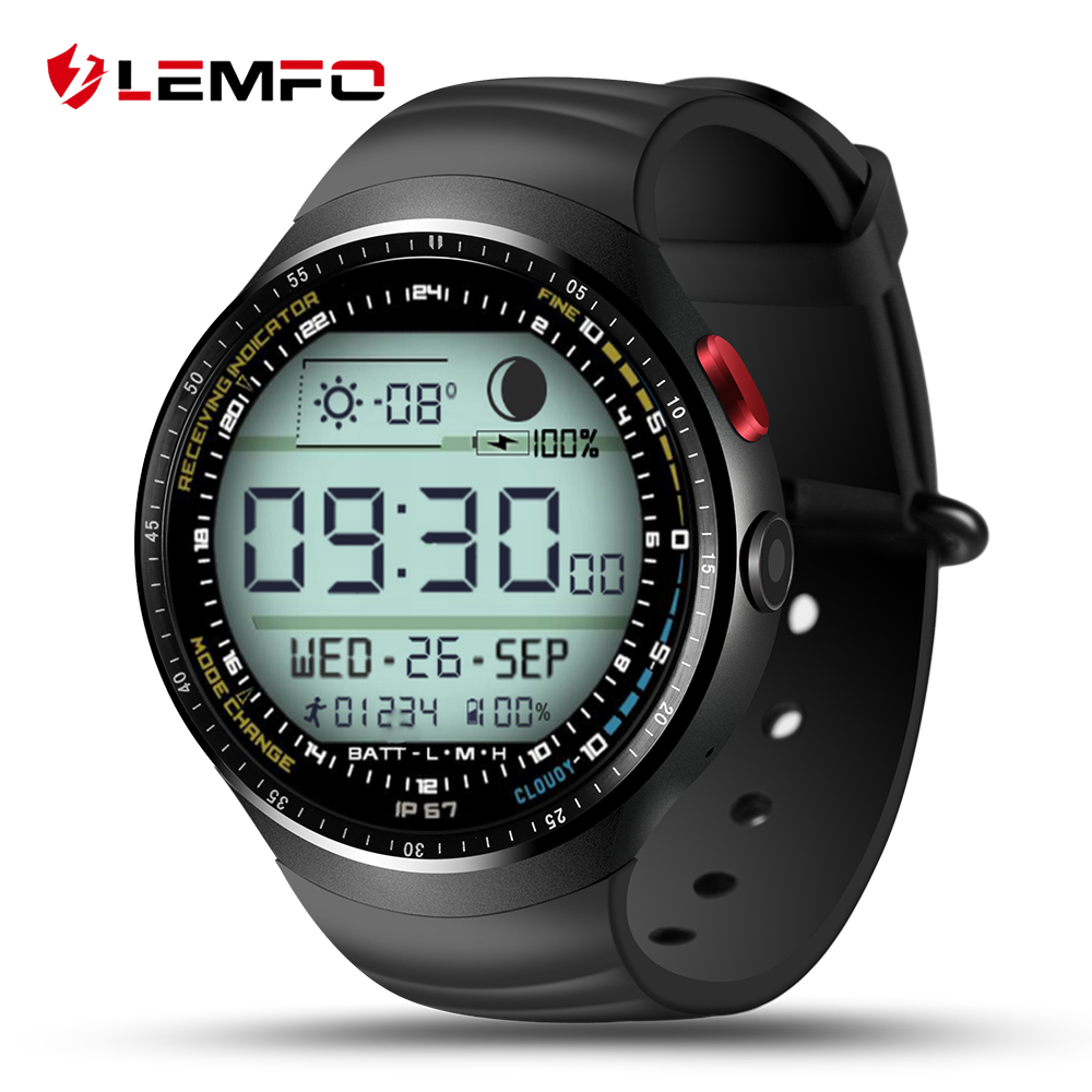 LEMFO LES1 Android 5.1 Wrist Smart Watch MTK6580 1.39 OLED Display 3G WIFI SIM 1G+16G Bluetooth SmartWatch for Android Phone q1 mtk6580 android 5 1 os smart watch 1 54 display wifi gps 3g bluetooth sim smartwatch phone for ios android