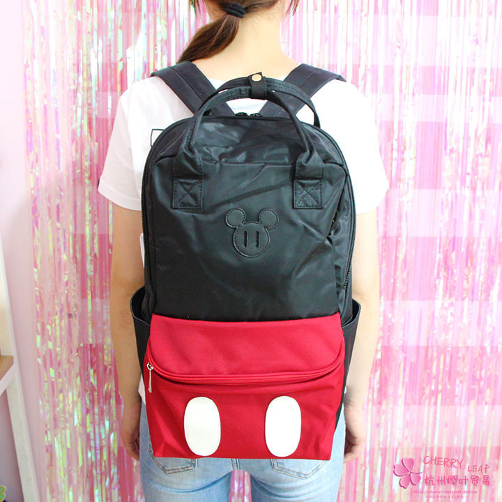 Plush Backpacks Dolls & Stuffed Toys 2019 Disney Mickey Minnie Large Capacity Plush Backpacks Mickey Mouse Fashion Student Schoolbag Women Bags Girl Travel Packet