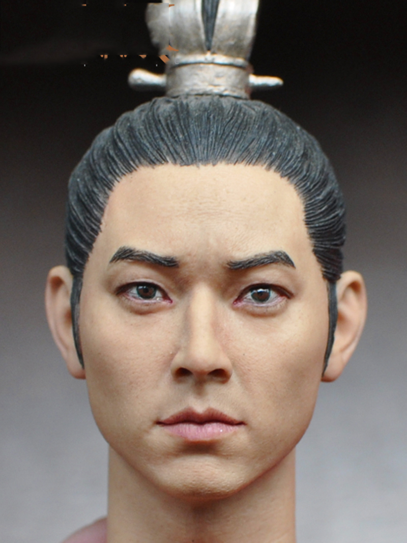 1/6 Scale Ancient Korea   Emperor Men Head Sculpt   for 12'' Male Body   Figure ming dynasty emperor s hat imitate earthed emperor wanli gold mesh hat groom wedding hair tiaras for men 3 colors