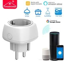 Timethinker WiFi Smart Socket 3Pcs Power Plug US EU Adapter Work for Apple Homekit Echo ALexa Google Home Voice Remote Control