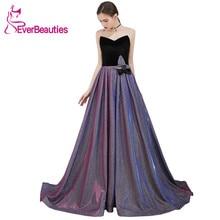 Vestido De Festa Sweetheart Sequins Evening Dress Long 2019 Abendkleider Elegant Gowns Robe Soiree Formal