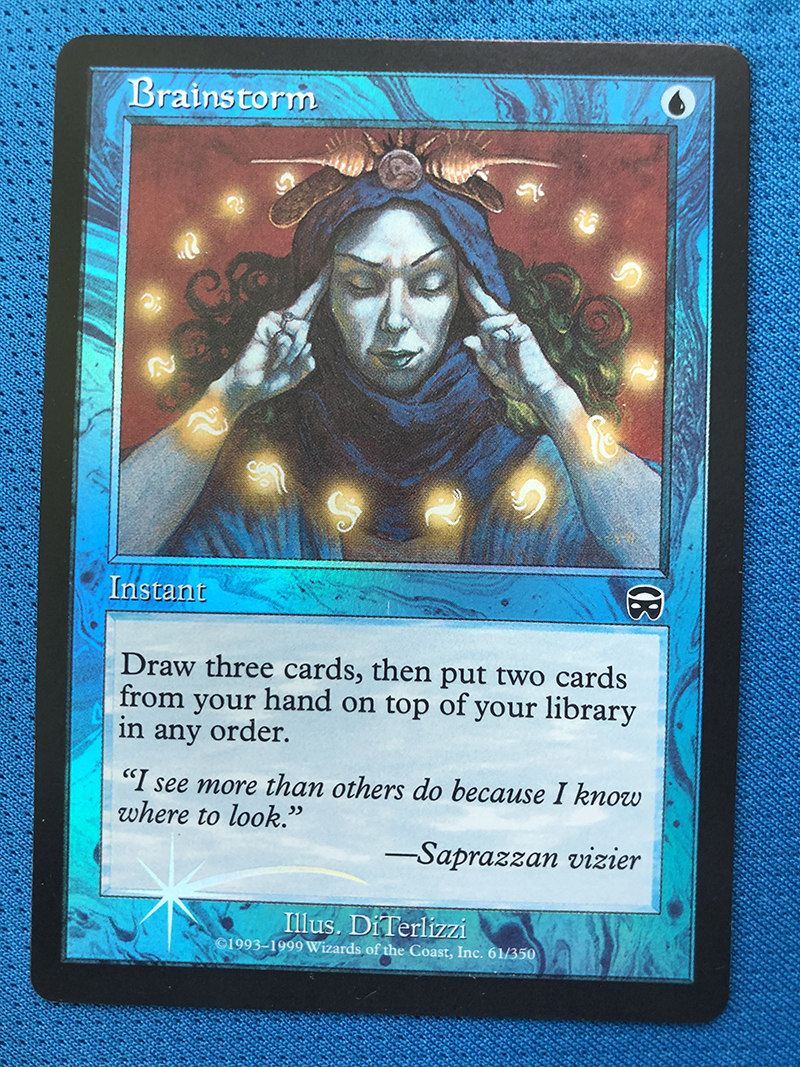 Brainstorm Mercadian Masques Foil Magician ProxyKing 8.0 VIP The Proxy Cards To Gathering Every Single Mg Card.