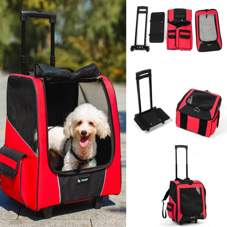 Fashion Small Animal Pet Puppy Chihuahua Rabbit Cat Carrier Backpack Luggage Travel Tote Trolley Bags for Dogs Stroller Crate