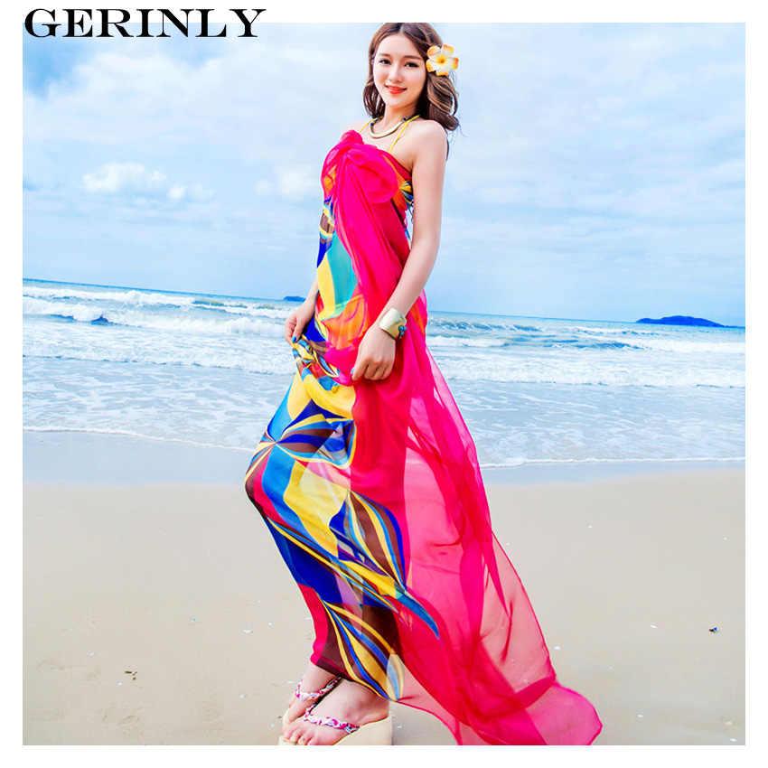 40c0f5b2 ... 140x190 cm bufanda Pareo mujeres playa pareos nuevo verano gasa diseño  geométrico Swimsuit Cover Up Bikini ...