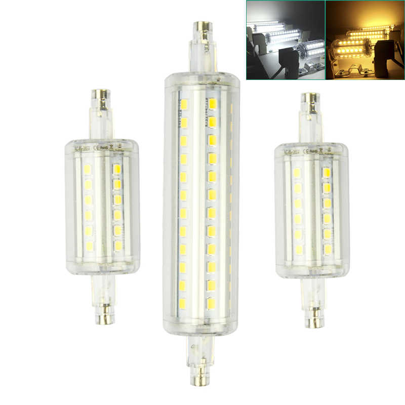 Waterproof R7S LED Lamp 78mm 118mm 9W 15W SMD 2835 R7S Light Bulb Replace Halogen Floodlight AC85-265V Spot Light
