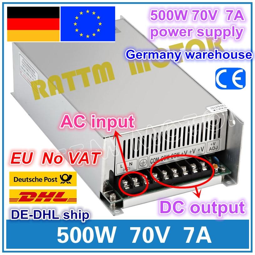 500 W 70 V 7A Interrupteur D'alimentation! Routeur CNC Sortie Unique Alimentation 500 W 70 V Moussant Mill Cut Graveur Laser Plasma