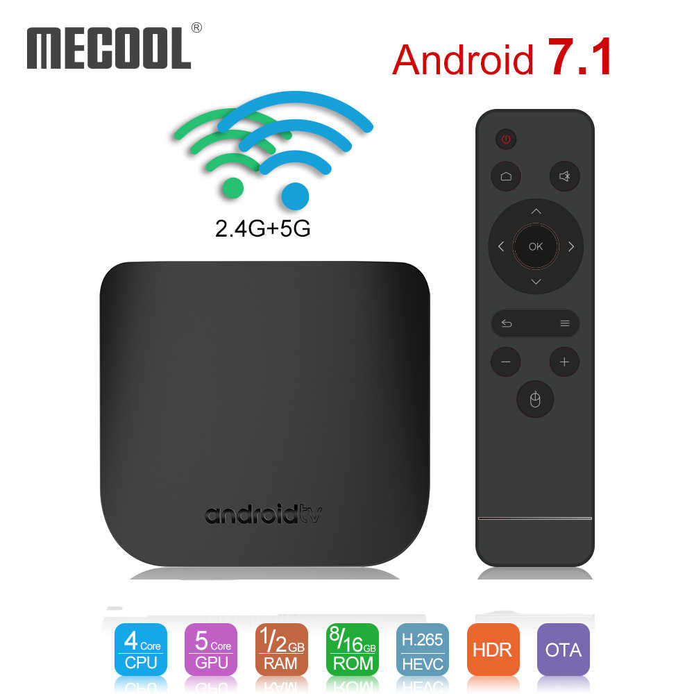 Mecool M8S Plus X Smart 4K Android 7.1 TV Box Amlogic S905W Quad Core 1G 8G 2.4 g/5G Wifi 100Mbps Set-Top Box Media Player