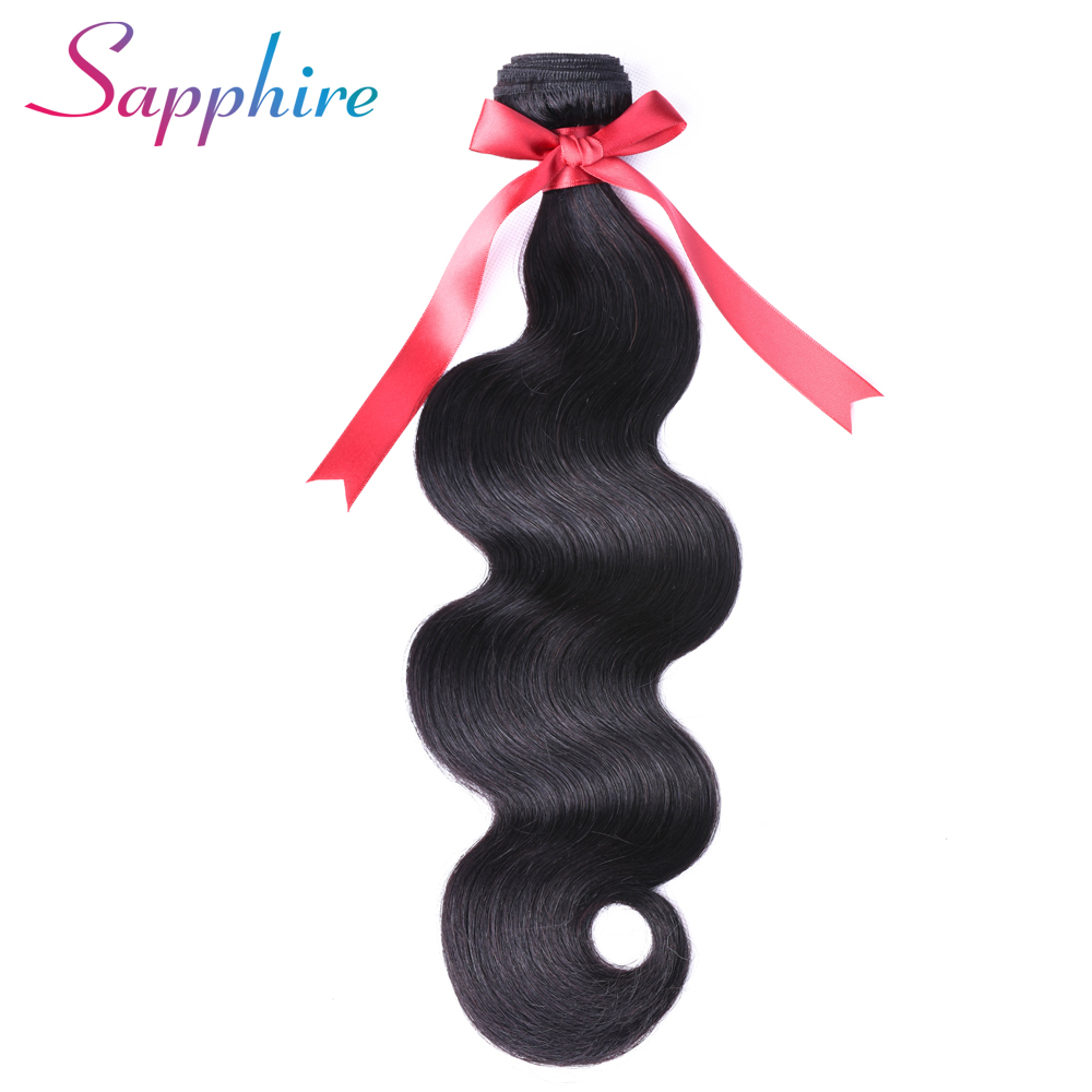 Sapphire Malaysian Body wave Hair 100% Human Hair Bundles Hair Extension Natural Color Can Buy 3 or 4 Bundles Free Shipping