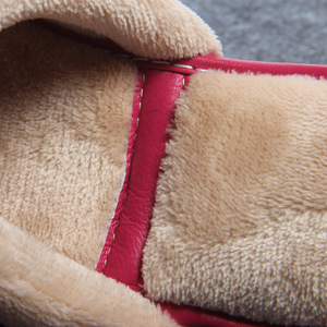 Image 5 - ST SUPER TRADE Winter Women Leather Slippers Home Shoes Sheepskin Slipper Warm Comfortable Thick Bottom Slippers