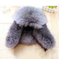 2017 New Warm Russian Fur Hats For Women And Men Natural Silver Fox Fur Raccoon Fur