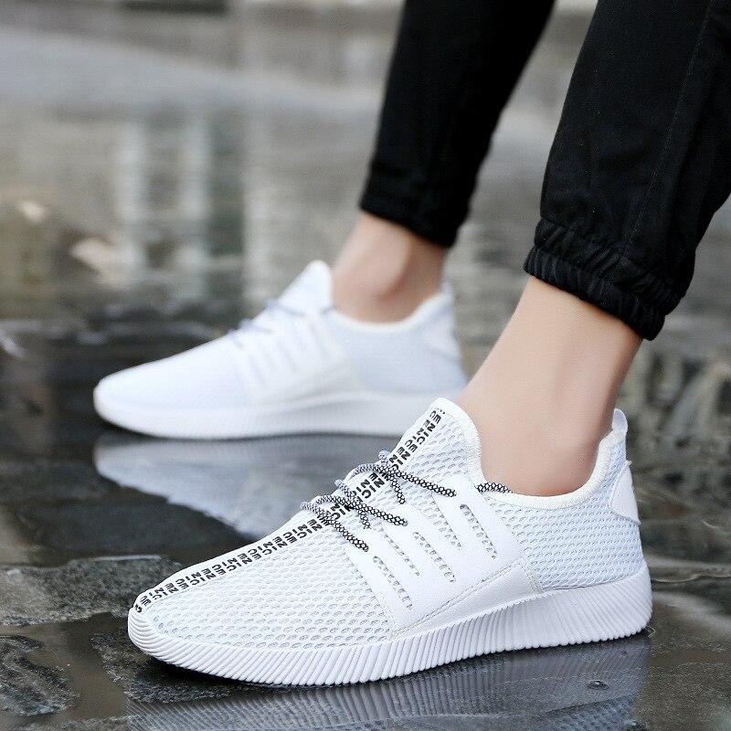 Hombres Zapatos Casuales de La Moda de verano Zapatos de Malla Transpirable Zapa