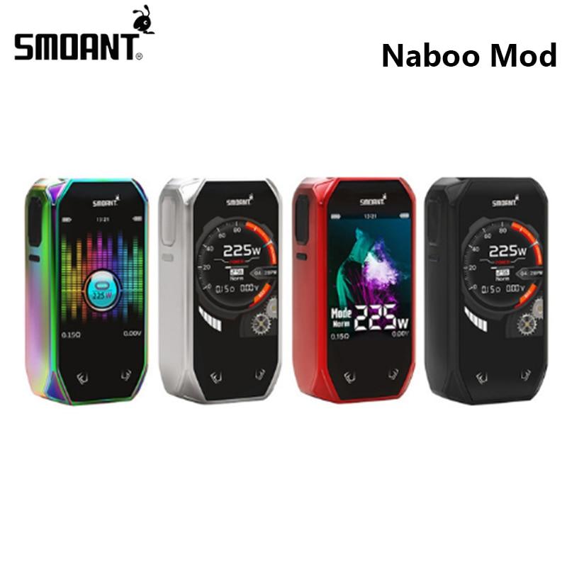 Original Smoant Naboo 225W TC Box MOD Classical UI Options and Music Mode Electronic Cigarette Fits