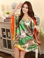 El Tamaño más de Moda Femenina Albornoz Bata Diseño Impreso Mujeres Rayón Camisón Camisón de Verano Pijama Mujer Zh789H