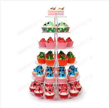 7 Layer Transparent Acrylic Cupcake Stand Party Cake Stand Birthday Party Cup Cake Stand Dessert Snack Rack