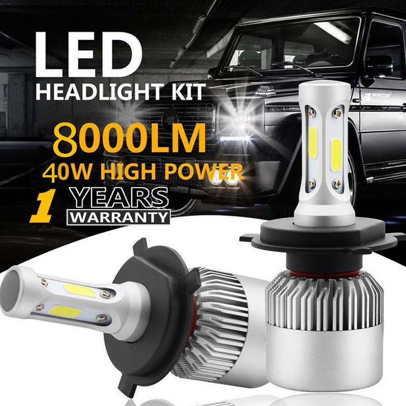 Henynet H1 H3 H4/hb2/9003 H7 H11/8/9 H13 880/881/h27 9004/hb1 9005/hb3 9006/hb4 9007/hb5 Led Headlight Kit Hi/low Beam Cob Bulbs To Enjoy High Reputation At Home And Abroad Lights & Lighting