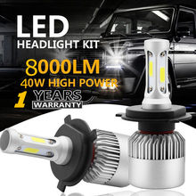 HENYNET H1 H3 H4/HB2/9003 H7 H11/8/9 H13 880/881/H27 9004/HB1 9005/HB3 9006/HB4 9007/HB5 LED Headlight Kit Hi/Low beam Cob Bulbs(China)