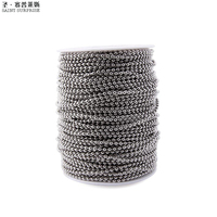 300 feet 3.2 mm Silver Color Nickel Plated Steel Metal Ball Bead Chain Roll Bulk for Diy Bracelet Necklaces Jewelry Making