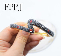 Red Stone Gold Cuff Baroque 7 5inch Unique Style FPPJ Bracelet Wholesale Beads Nature