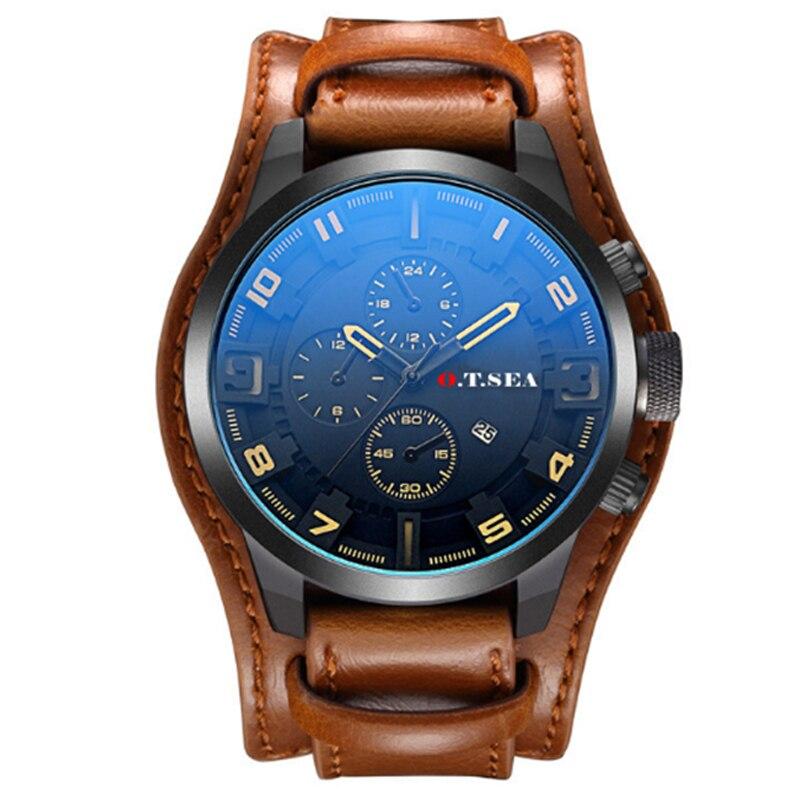 Luxury Leather Watches Men Military Sport Quartz Wrist Watch 2019 Male Best Selling Clock xfcs Relogio Masculino erkek kol saati