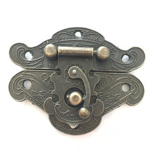 Jewelry Wooden Case Box Lock,Hardware Antique Bronze Hasp Locks,66mm*52mm