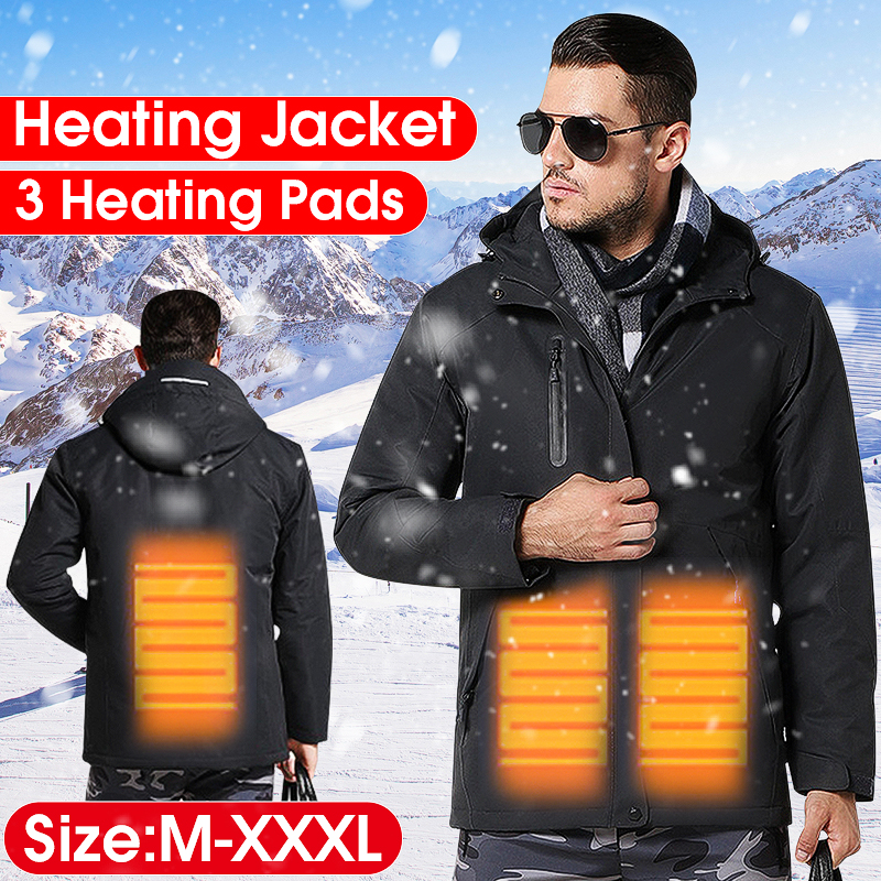 Зимние мужские USB инфракрасное Отопление Ves открытый водостойкий умный Электронагревательная рубашка термостат с капюшоном нагревательна...