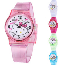 WoMaGe Mouse Sports Kids Watches Hello Kitty Quartz Watch
