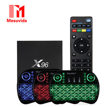 X96 Android 6.0 TV Box Amlogic S905X Max 2 GB 16 GB Boîte TV Quad Core WIFI HDMI 4 K * 2 K HD Smart Set Top BOX Media Player + Clavier