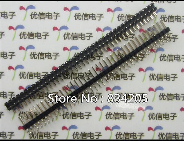 Back To Search Resultshome Improvement Sweet-Tempered Free Shipping Gold Plated 2.54mm 2*40p Pin Header Double Row 90 Degrees Bent Needle Special Summer Sale Electrical Equipments & Supplies