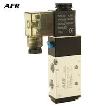 Air Solenoid Valve 5 Port 2 Position Gas Pneumatic Electric Magnetic Valve DC12V DC24V AC220V AC110V 4V210-08  Solenoid Valve