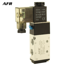 Air pneumatic valve 5 Port 2 Position Gas Pneumatic Electric Magnetic Valve DC12V DC24V AC220V AC110V 4V210-08  Solenoid Valve