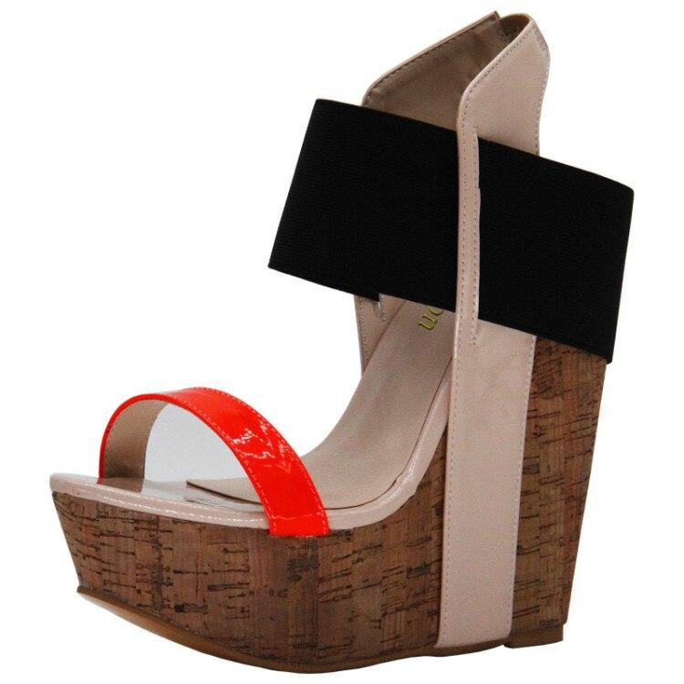 Nous forme 2018 Plate Hauts De Talons Femmes Yifsion Colors Chaussures 4 Partie Mixed Plus Mélangées Bout La 10 Coins À Bal Ouvert 5 Sandales Couleurs D0088 Taille tqTwtdE