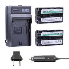 Tectra 2pcs NP-F550 NP F550 NP F570 Digital camera BATTERY+Digital Charger+Automotive Plug For SONY CCD-SC55 CCD-TRV81 DCR-TRV210 MVC-FD81