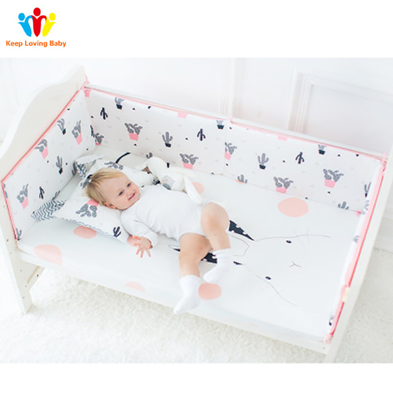 Breathable Cotton Baby room decor Crib Bumpers For Newborn Infant Cot Protector stuff for babies crotch to the cot